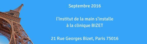 Déménagement de l'institut à la clinique Bizet